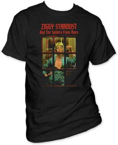 David Bowie Ziggy Stardust And The Spiders From Mars Adult T Shirt Rock Music