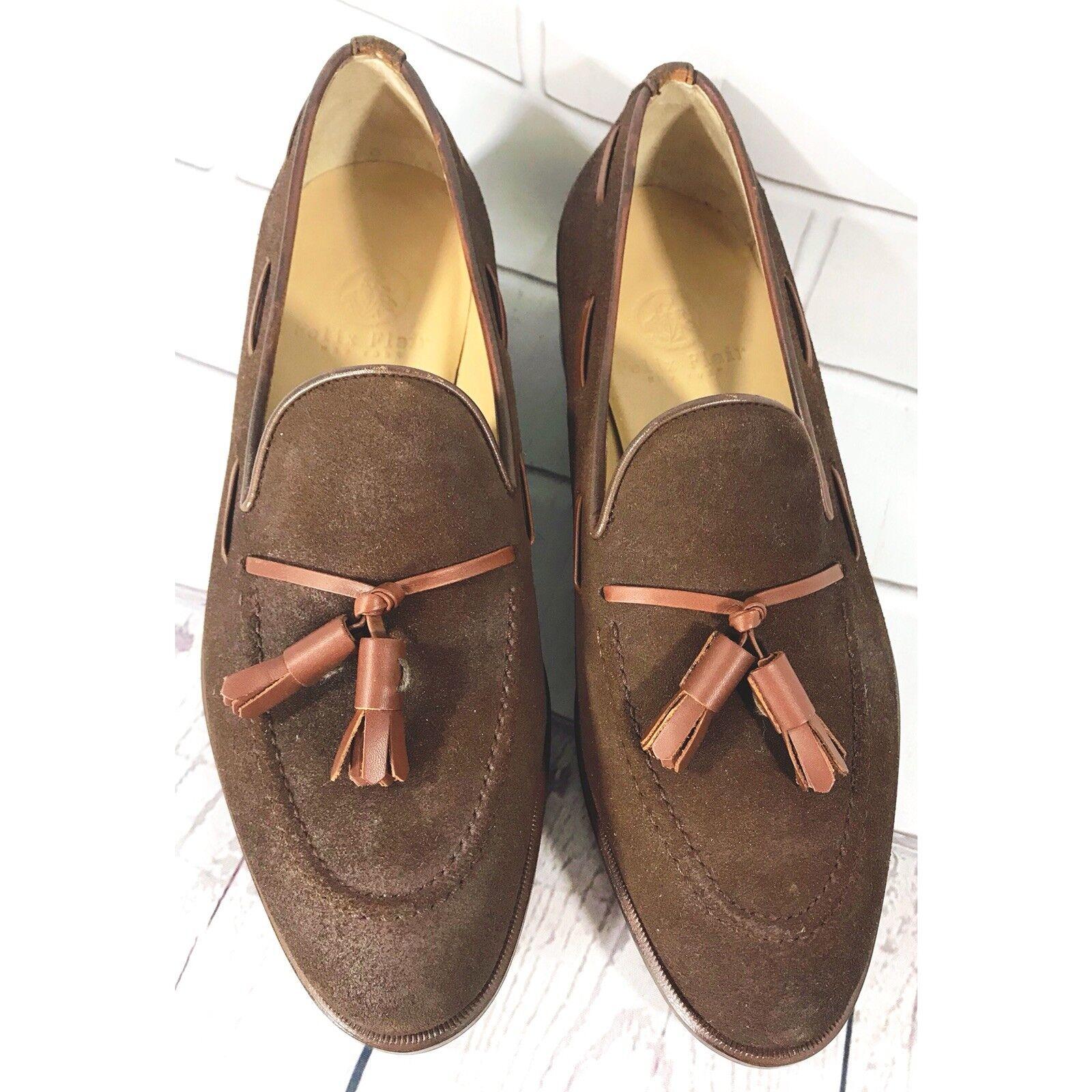 migliore qualità NEW Felix Flair New York The Marrone Loafer Suede Suede Suede Tassel Uomo scarpe Cuero Dimensione 7.5  più sconto