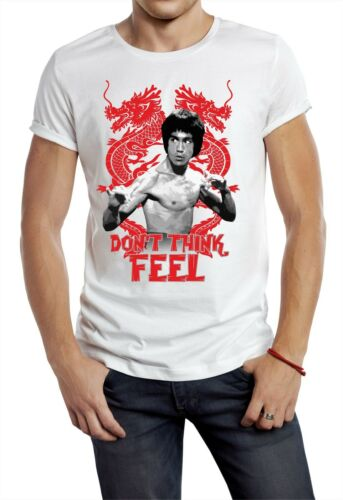 BRUCE LEE T-SHIRT DON/'T THINK FEEL DRAGON UNOFFICIAL ENTER THE DRAGON FIGHT W