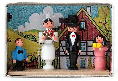 FIGUR Braut NEU Erzgebirge Volkskunst Seiffen Holz Hochzeit Bräutigam Kirche