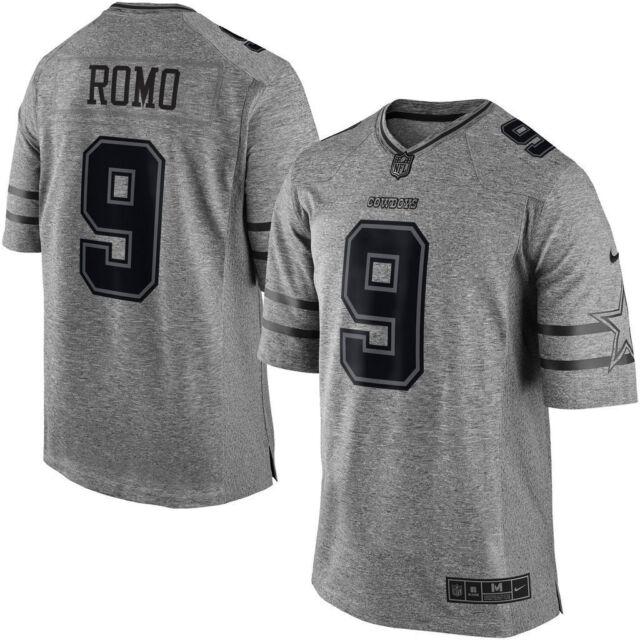 8bb016487 NIKE TONY ROMO GRIDIRON GREY COWBOYS NFL LIMITED JERSEY-STITCHED SEWN SZ  MEDIUM