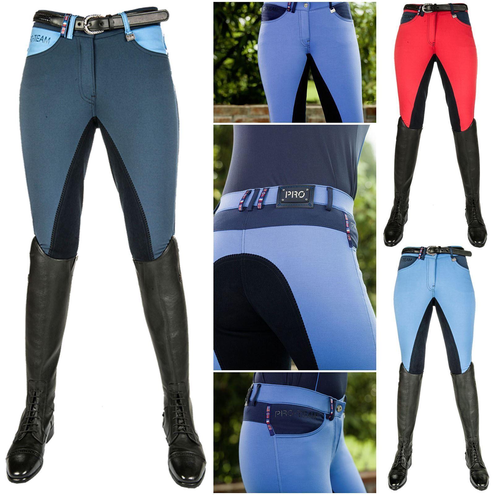 HKM alos para mujer eventos de salto show Suave Bolsillo con cremallera cómoda Jodhpur Pantalones De Montar