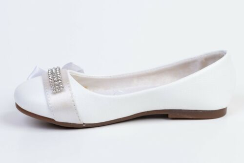 Girls Toddlers /& Youth Ballerina Mary Jane Flower Girl Shoes White,Beige  9-3