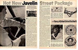 1968-HOT-NEW-JAVELIN-STREET-PACKAGE-ORIGINAL-2-PAGE-ARTICLE-AD
