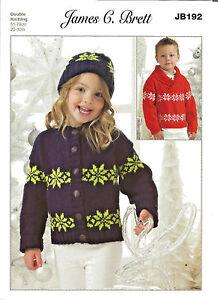 e509a5c4c7d3dd JAMES BRETT BOY GIRL XMAS SNOWFLAKE SWEATER   CARDIGAN DOUBLE ...