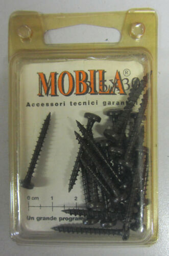 MOBILA 20 viti zincate nere x fissaggio 3,5 X 30 MM a croce testa cilindrica