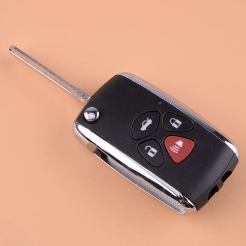 4 Button Floding Flip Blank Remote Key Case Shell Fit For TOYOTA RAV4 2006-2010