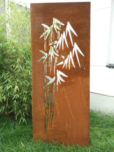 Edelrost Garten Sichtschutz Wand Rost Sichtschutzwand Metall 125*50 cm