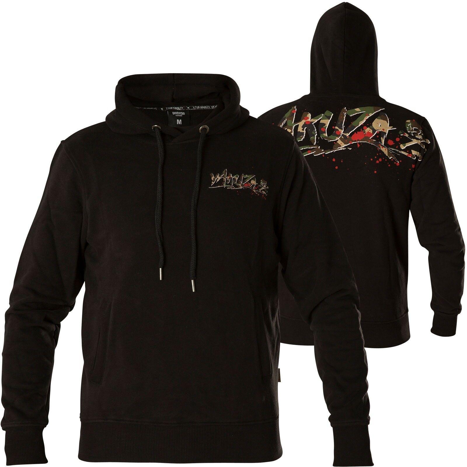 YAKUZA Hoody Trophy HOB-13055 schwarz Schwarz Hoodies Herren  Sweatshirts