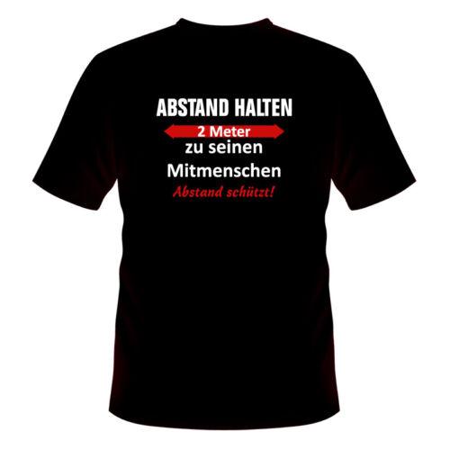 ABSTAND SCHÜTZT! CORONA T-Shirt ABSTAND HALTEN