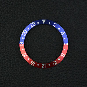 INLAY-fuer-ROLEX-GMT-Master-1675-16750-PEPSI-BLAU-ROT-AM-Vintage-Blue-Red-Bezel