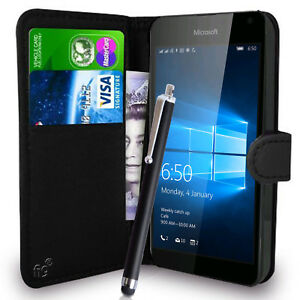 sale retailer 1d875 45bae Details about Wallet Case Pouch PU Leather Cover for Nokia / Microsoft  Lumia 650 Mobile Phone