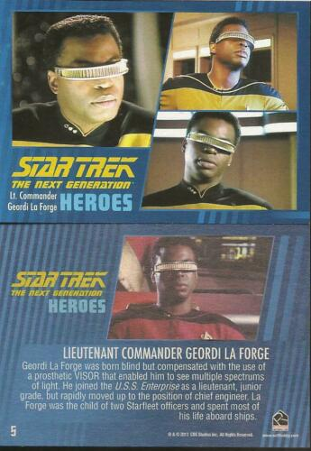 RITTENHOUSE STAR TREK THE NEXT GENERATION HEROES /& VILLAINS PARALLEL CARD 05