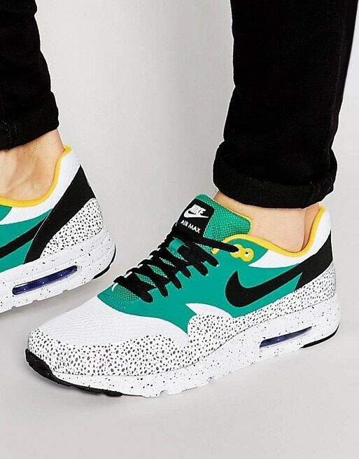 Nike Air Max 1 Ultra SAFARI 9 White Green Cement Grey gold QS Atmos 819476-103