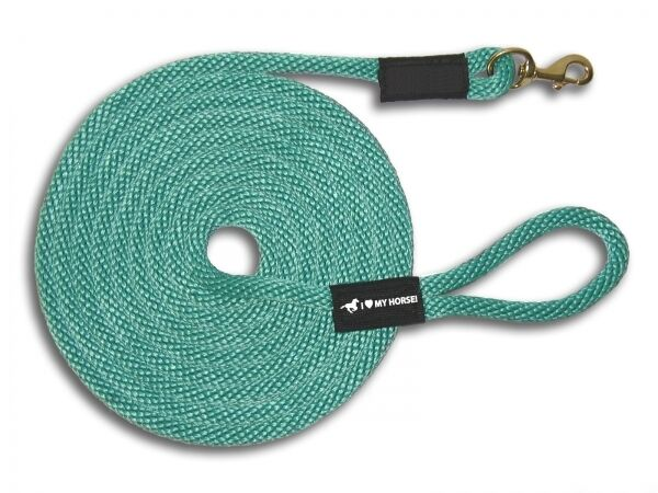Horse Lead Lunge Line (50') Heavy Duty Zinc Snap - USA MADE  16 colors