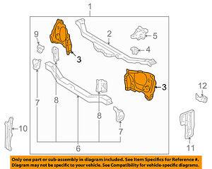 image is loading toyota-oem-01-02-corolla-radiator-support-side-