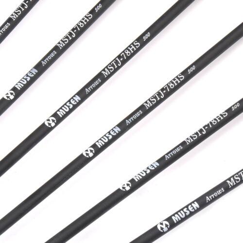 6X28/'/' Carbon Arrows Archery OD7.8mm F Recurve//Compound Bow Hunt Tip Replaceable
