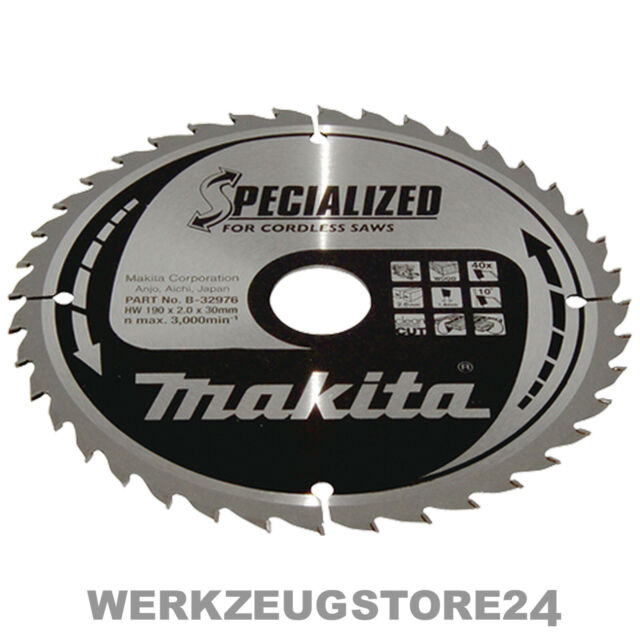 B-32976 40Z 190 x 30 mm Makita Specialized Saegeblatt