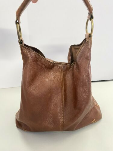 LUCKY  BRAND Brown Whipstitch Leather  Penny's Bag