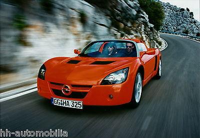 Aggressiv Opel Speedster Orig. Werksfoto Foto 2/01 21x14,7 Cm Photo Auto Pkw 2000 Int. 01 Wasserdicht, StoßFest Und Antimagnetisch