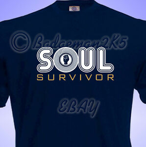 Northern-SOUL-SURVIVOR-Wigan-All-Nighter-retro-NEW-DESIGN-MENS-T-Shirt