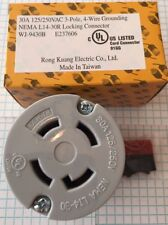 NEMA L14-30, 3 POLE, 4 WIRE, 30A 125/250V Grounding Locking CONNECTOR, UL listed