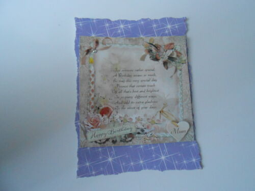 PACK 2 BIRTHDAY VERSE EMBELLISHMENTS FOR CARDS AND CRAFTS MUM