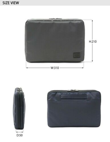 S New YOSHIDA PORTER VIEW DOCUMENT CASE 695-05765 NAVY From Japan