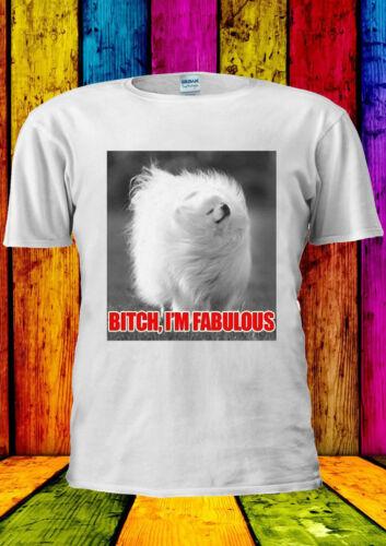 B tch veuillez je suis fabuleux caniche chien T-shirt Gilet Débardeur Hommes Femmes Unisexe 2237