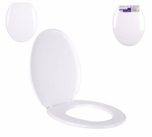 Universel Blanc Siège De Toilette WC en-Suite Bathroom Essentials raccords en plastique