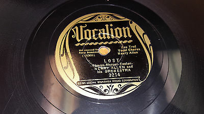 HENRY ALLEN & HIS ORCHESTRA Lost / I'll Bet You Tell That 78 Vocalion 3214 VG+
