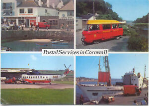 Royal-Mail-Postcard-Commer-Postbus-Sherpa-Helicopter-at-St-Mawes
