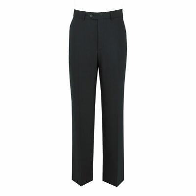 Scott Wool Rich Formal Suit Trousers In Plain Navy In Waist Size 30 To 56, S/r/l
