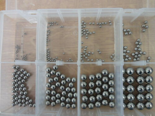 330No ASSORTED BALL BEARINGS, INCLUDES 2mm, 3mm, 4mm, 5mm, 6mm, 8mm, 10mm, 12mm