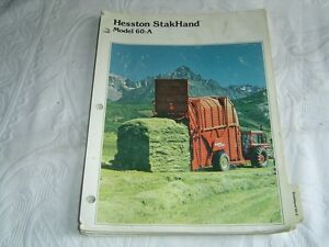 Details about HESSTON STAKHAND MODEL 60-A 60 A PARTS LISTING CATALOG MANUAL