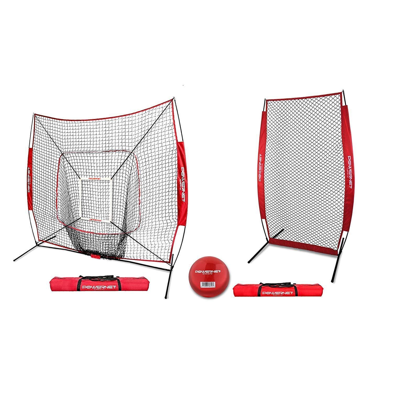 Powernet 7x7 Dlx béisbol Softbol golpear Net paquete con I-pantalla   Colors del equipo
