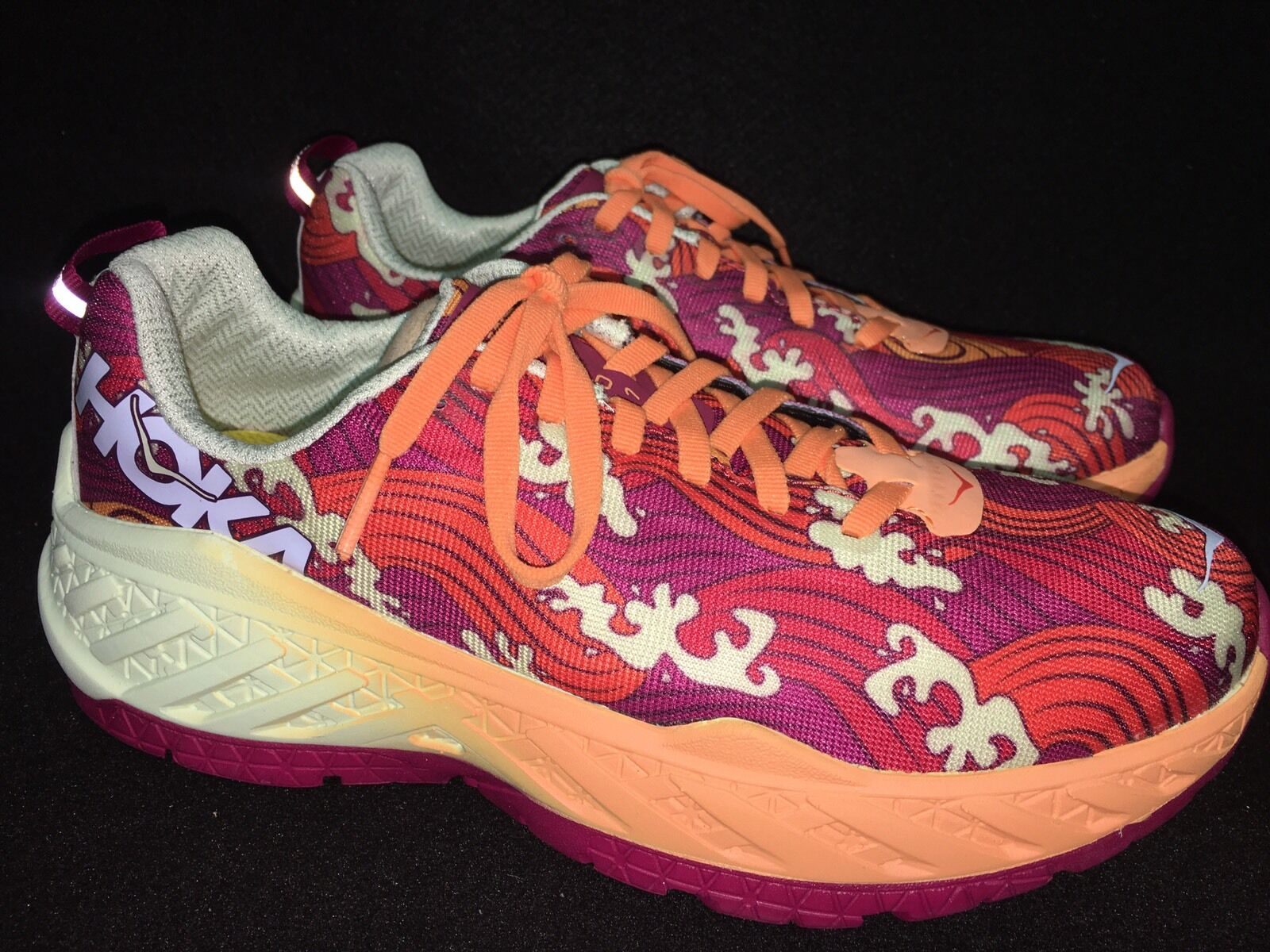 Hoka One One Kona Clayton 2 Tangerine Tango Orange Running Tennis Shoes 1019678