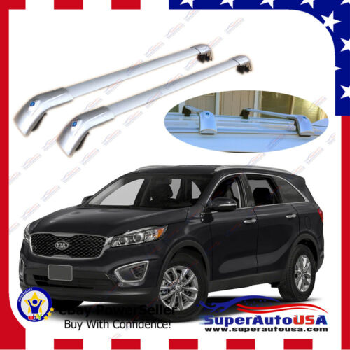 Top Roof Rack Fit FOR 2014-2019 Silver KIA SORENTO Baggage Luggage Cross Bar