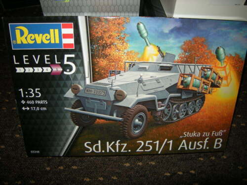 1:35 Revell Level 5 Sd.Kfz.251//1 Ausf 03248 OVP B Stuka zu Fuss Nr