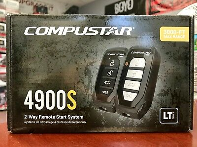 2-way Remote Start and Keyless Entry System with 3000-ft Range Compustar CS4900-S 4900S