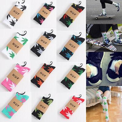 Casual Women Mens Cotton Socks Marijuana Weed Maple Leaf Long Weed Sock