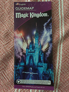Details about Walt Disney World Magic Kingdom Guide Map \