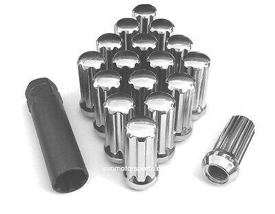 EXTENDED XL BLCK WHEEL LOCK LUG NUTS 14X1.5 M14 1.5 ACORN CLOSE END TALL