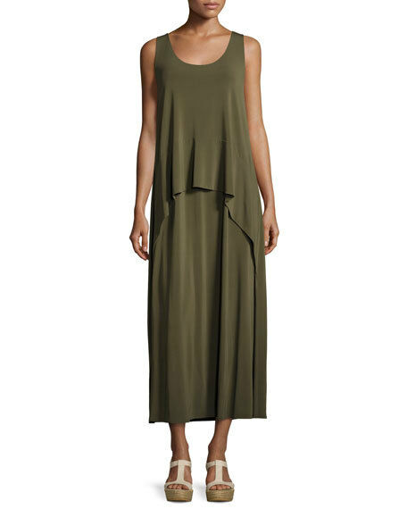 LAFAYETTE 148 New York Olive Green Jersey Maxi Tank Dress Size Small