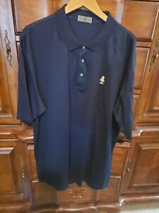 Details about Footjoy Short Sleeve Golf Polo Shirt Mens Size XL (Navy Blue) Bell 1897