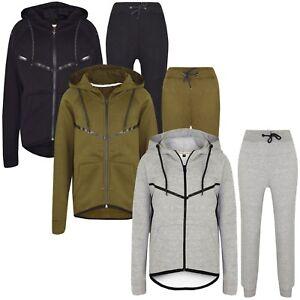 Boys-Skinny-Slim-Fit-Kids-Fashion-Tracksuit-Junior-Fleece-Jogging-Bottom-Hoodie