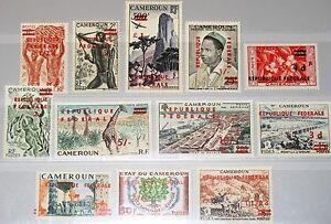 CAMEROUN-KAMERUN-1961-332-43-343-1-C38-40-Definitives-new-currency-ovp-Fauna-MNH