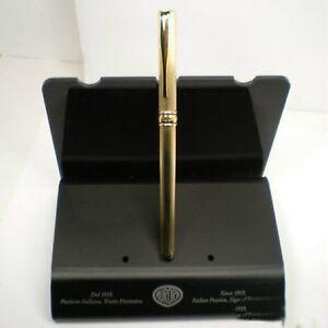 Aggressiv Aurora Magellano Stilo 925 Silber Golden Eingabestift Gold 14 Kt Jahr 1999