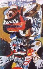 """KAREL APPEL mounted vintage print, Stedelijk 1953, COBRA art brut 12 x 10"""" AR02"""