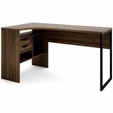 Tvilum Wayland 2 Drawer Corner Writing Desk in Walnut